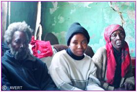 زن افریقایی مبتلا به ایدز